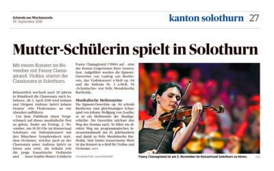 Mutter-Schülerin spielt in Solothurn